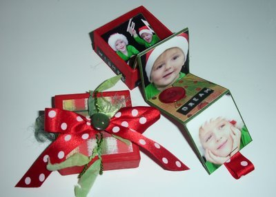 {Christmas is coming!} scrapbooking craft box photo gift