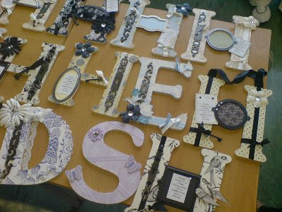{look what we made} altered letters
