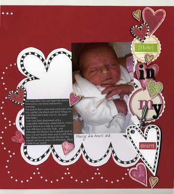 {February kit!} Harrys hole in his heart scrapbooking