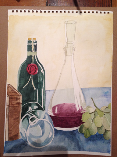 My first still life watercolour.