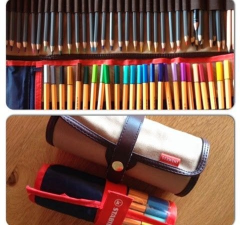 Easy packing with kids and travel roll up pen cases!