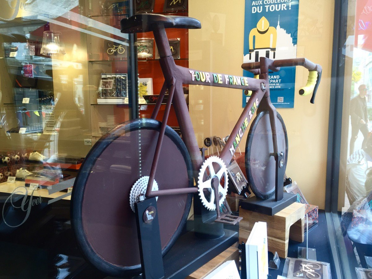 the tour de France 2016 in historic Normandy chocolate bike