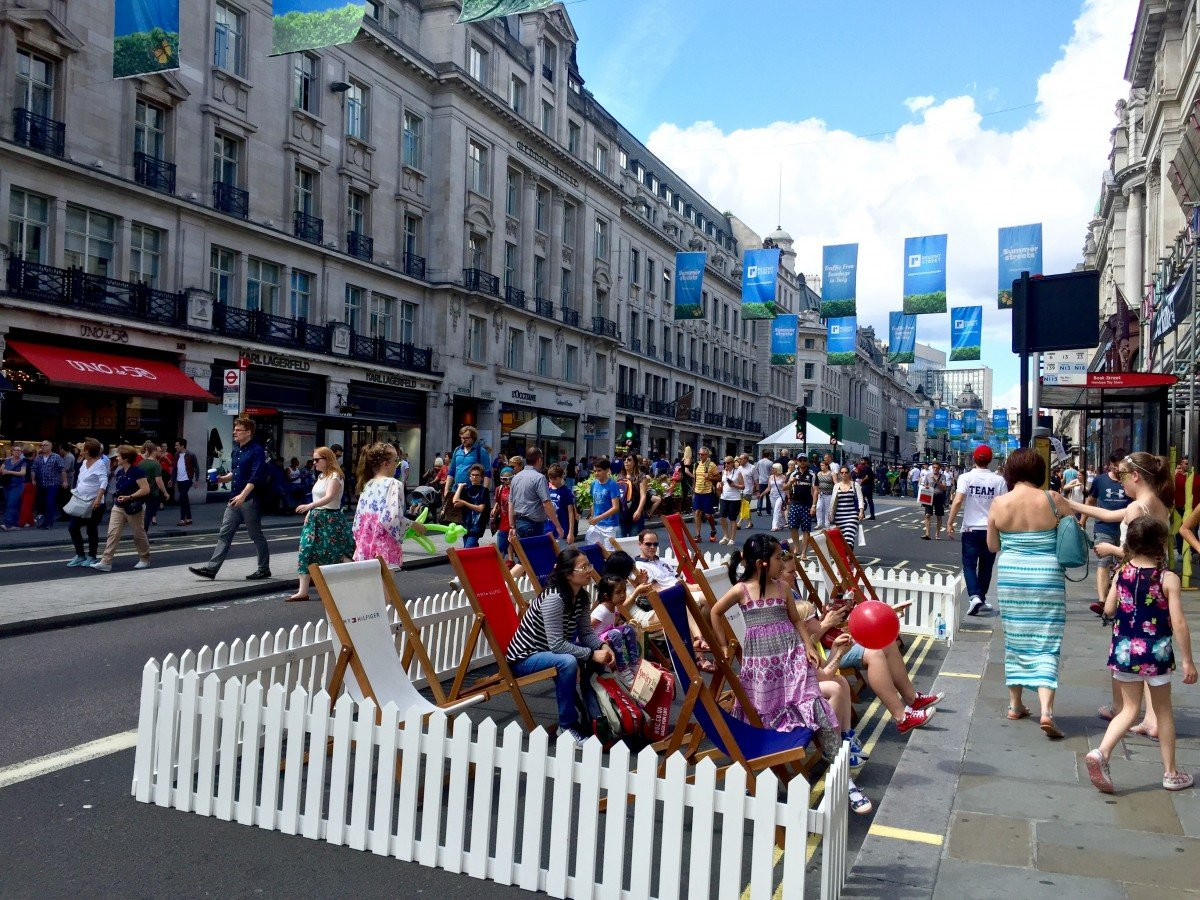 A day out in London on Regent streets traffic free sunday