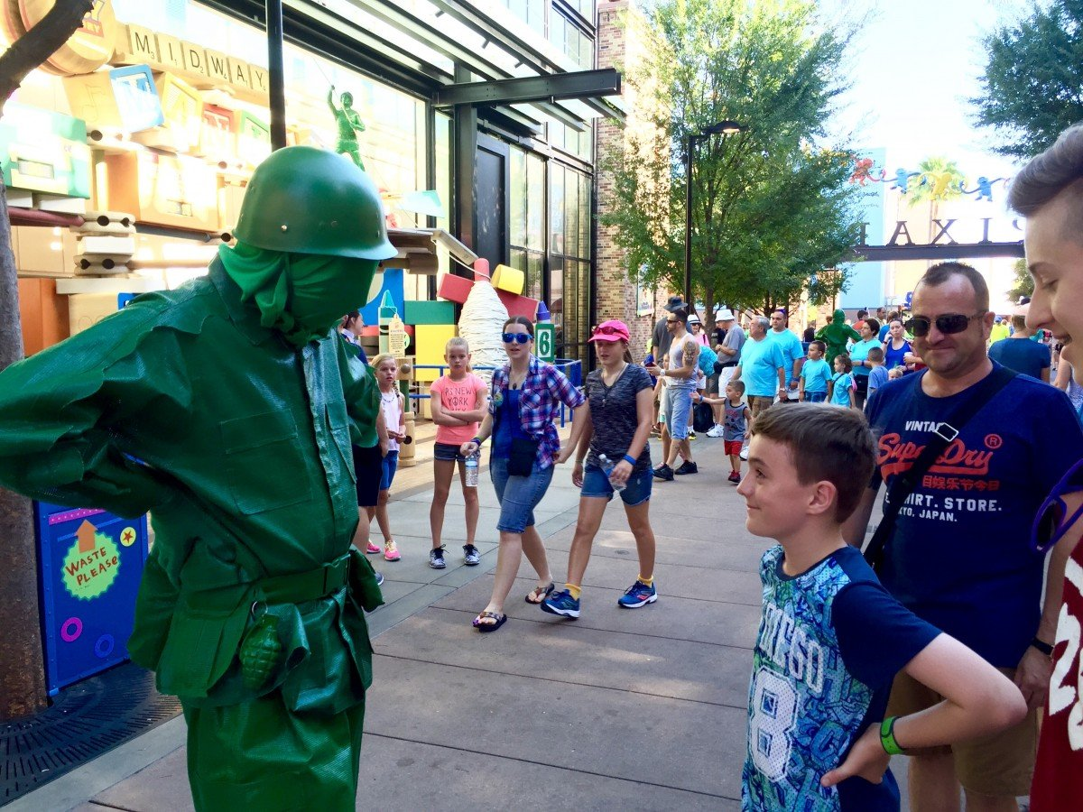 Toy story mania green soldier hollywood studios