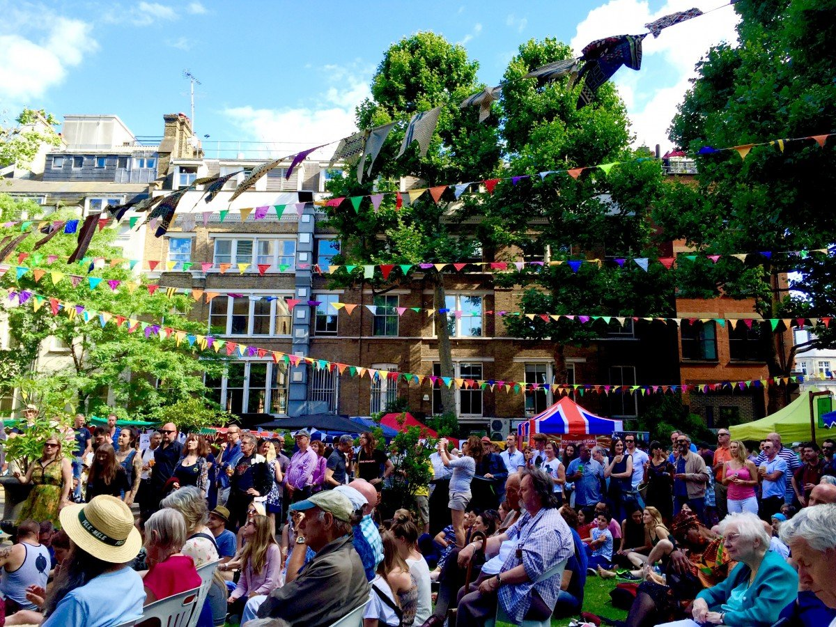 A day out in london Soho village fete