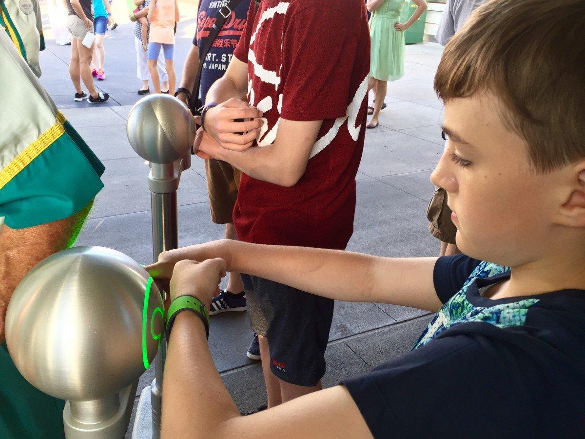 Magic bands at Disney world Hollywood studios