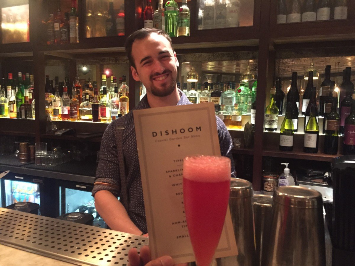 Dishoom Carnaby street bar bolly belinni