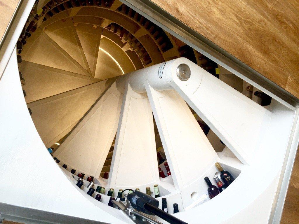 spiral cellars in kitchen