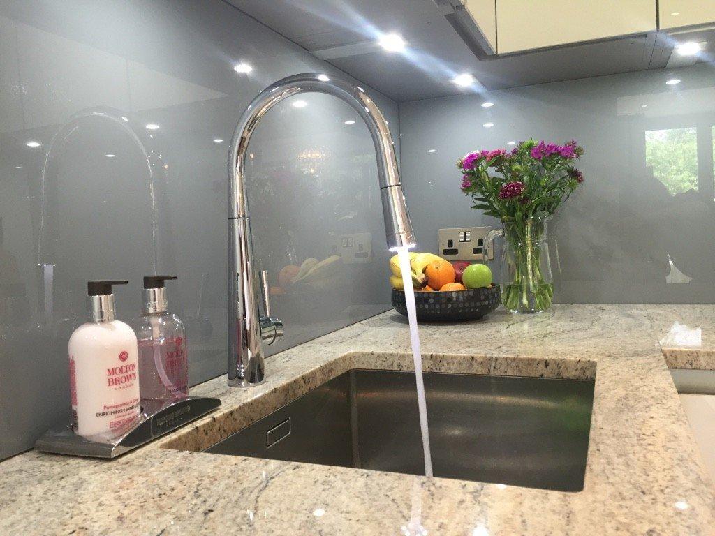 Franke taps contemporary kitchen