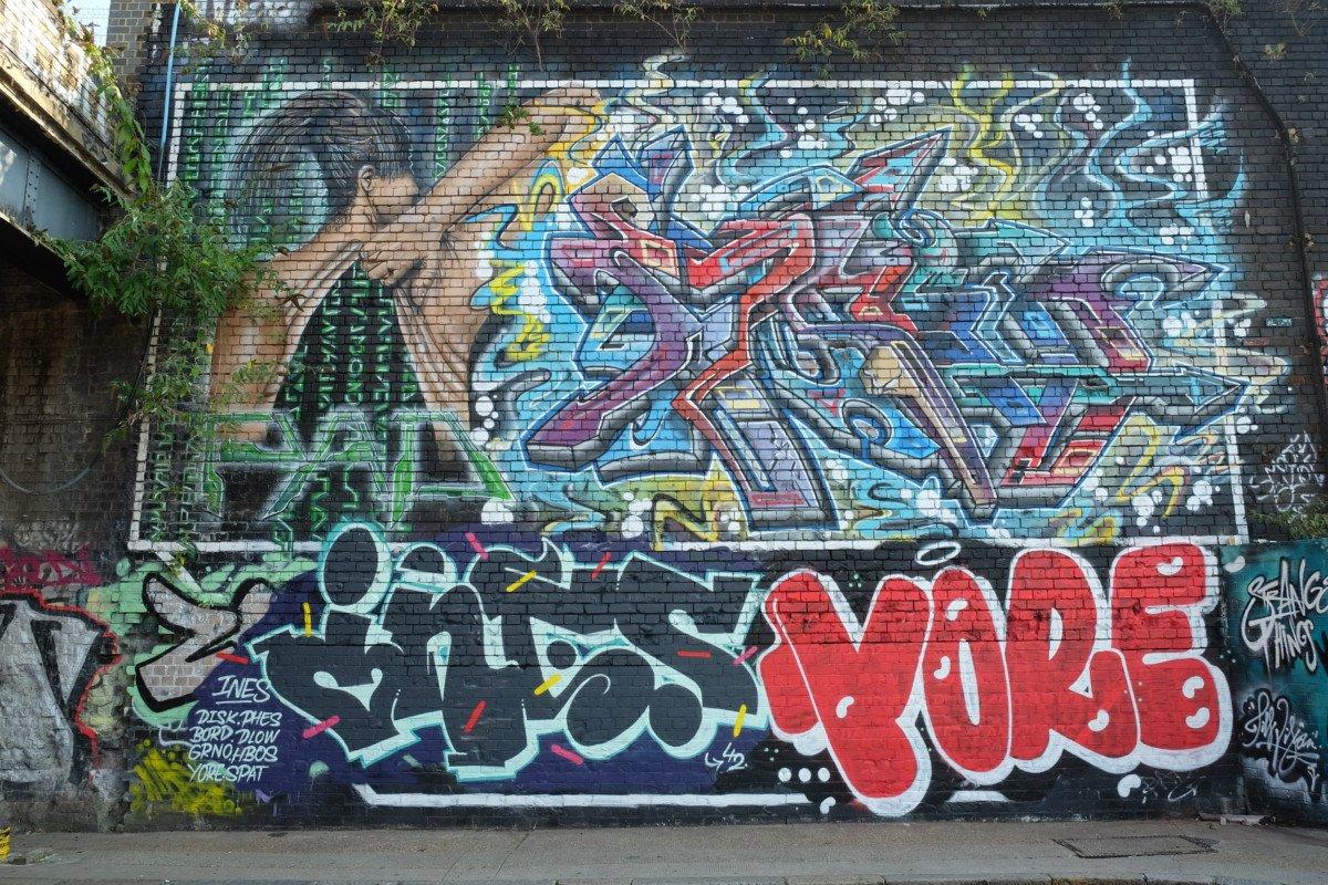 Street art Shoreditch station london