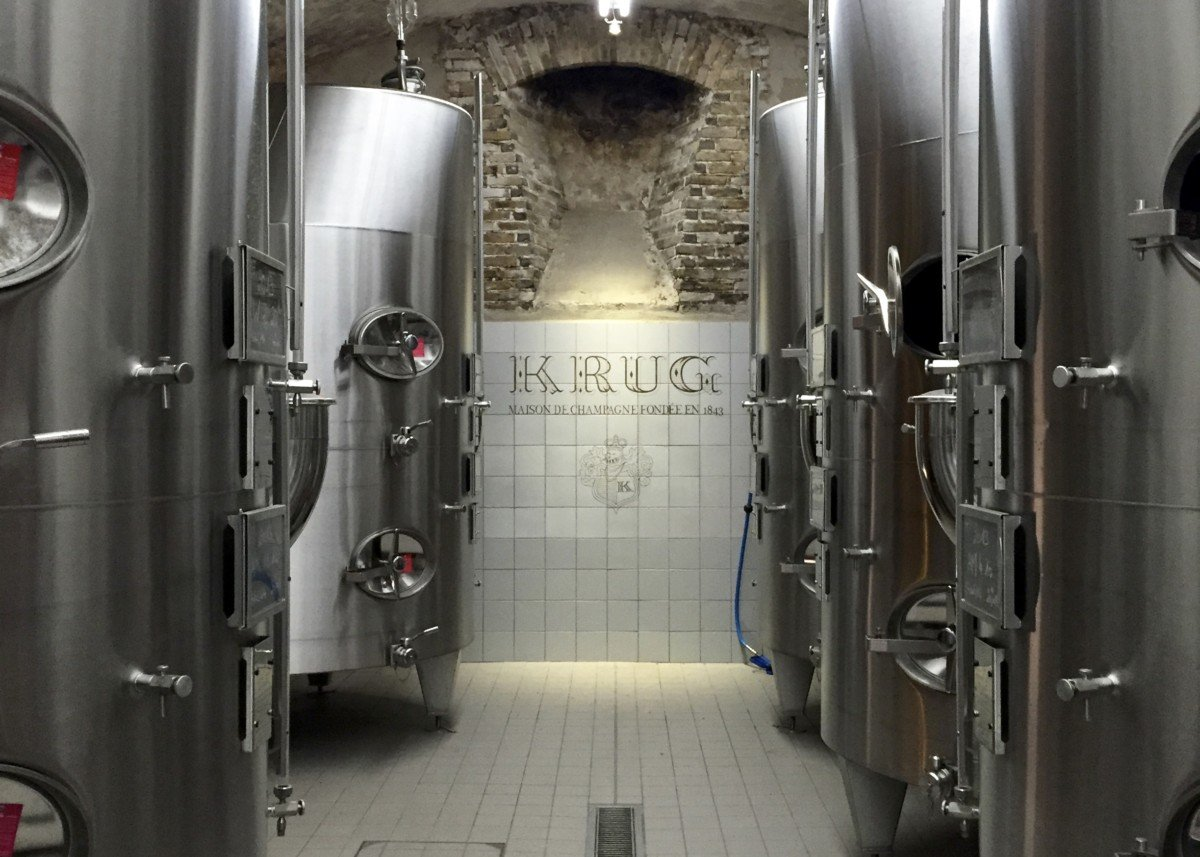 Krug champagne tour vats
