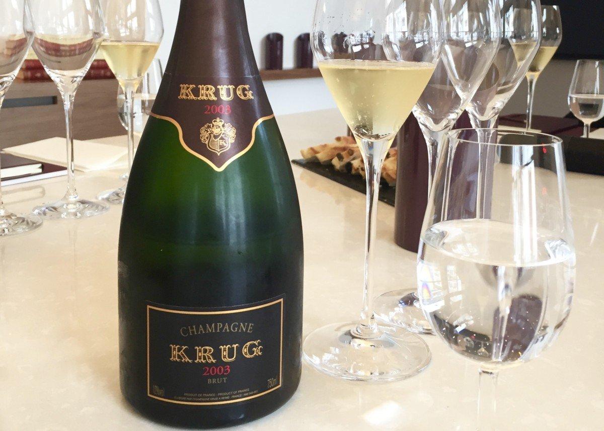 Krug champagne tour tasting