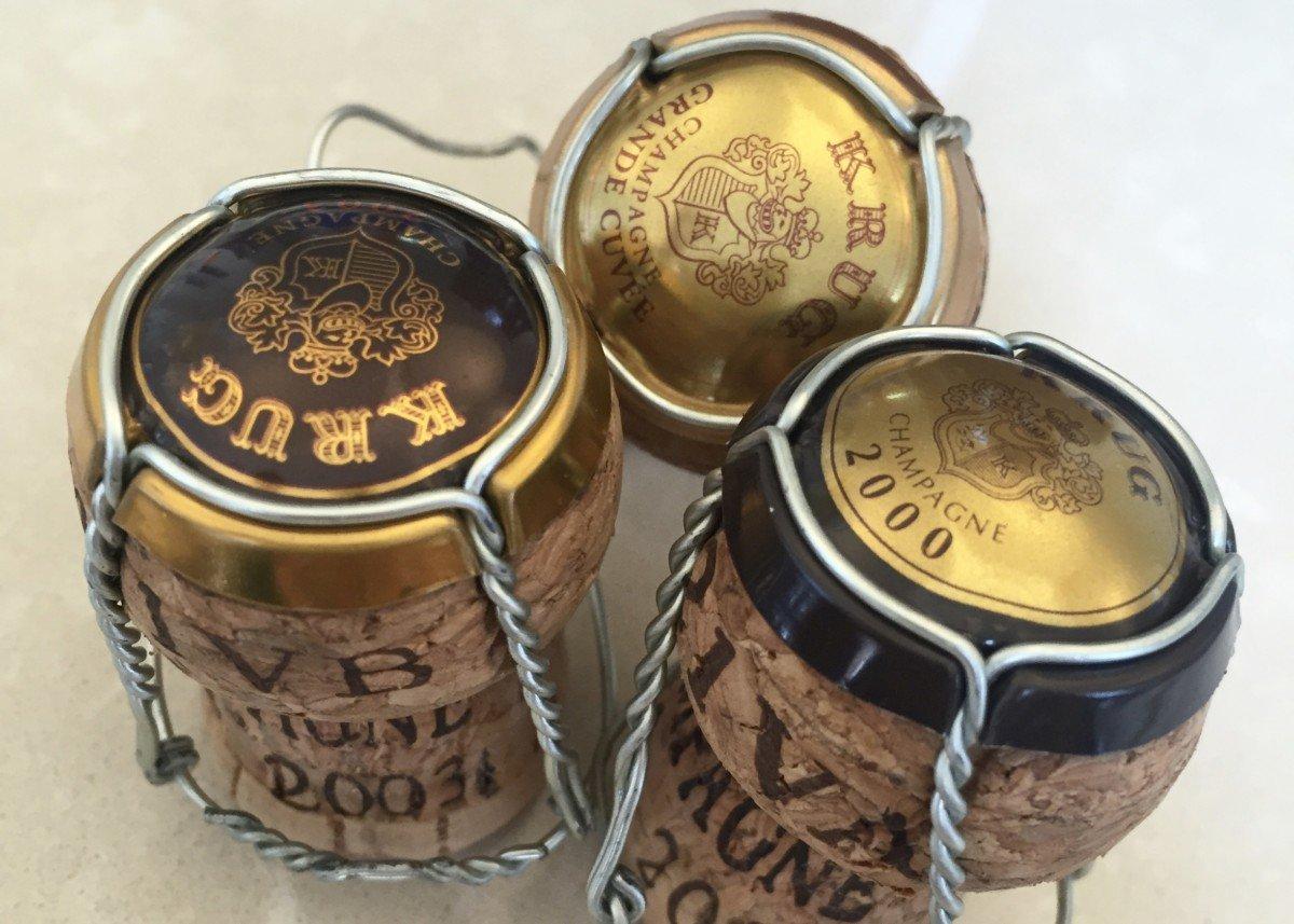Krug champagne tour corks
