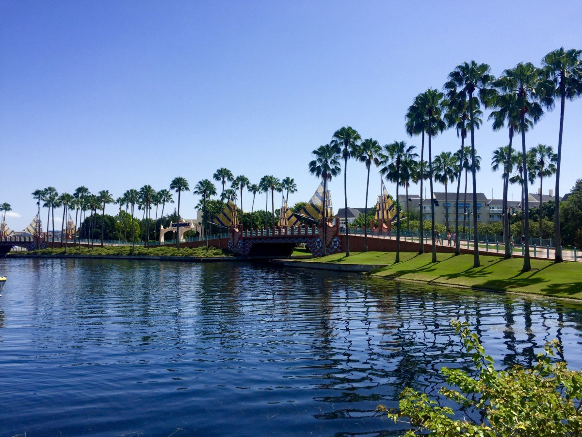 disney board walk viewed from the swan and dolphin