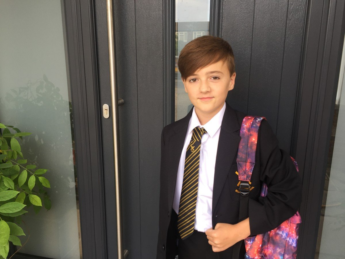 first day at senior school As the sun is starting to fade and the children are all back to school, with early mornings and shirts and ties. I sit here wondering how it all went so fast, Where have my Summer kids Gone?