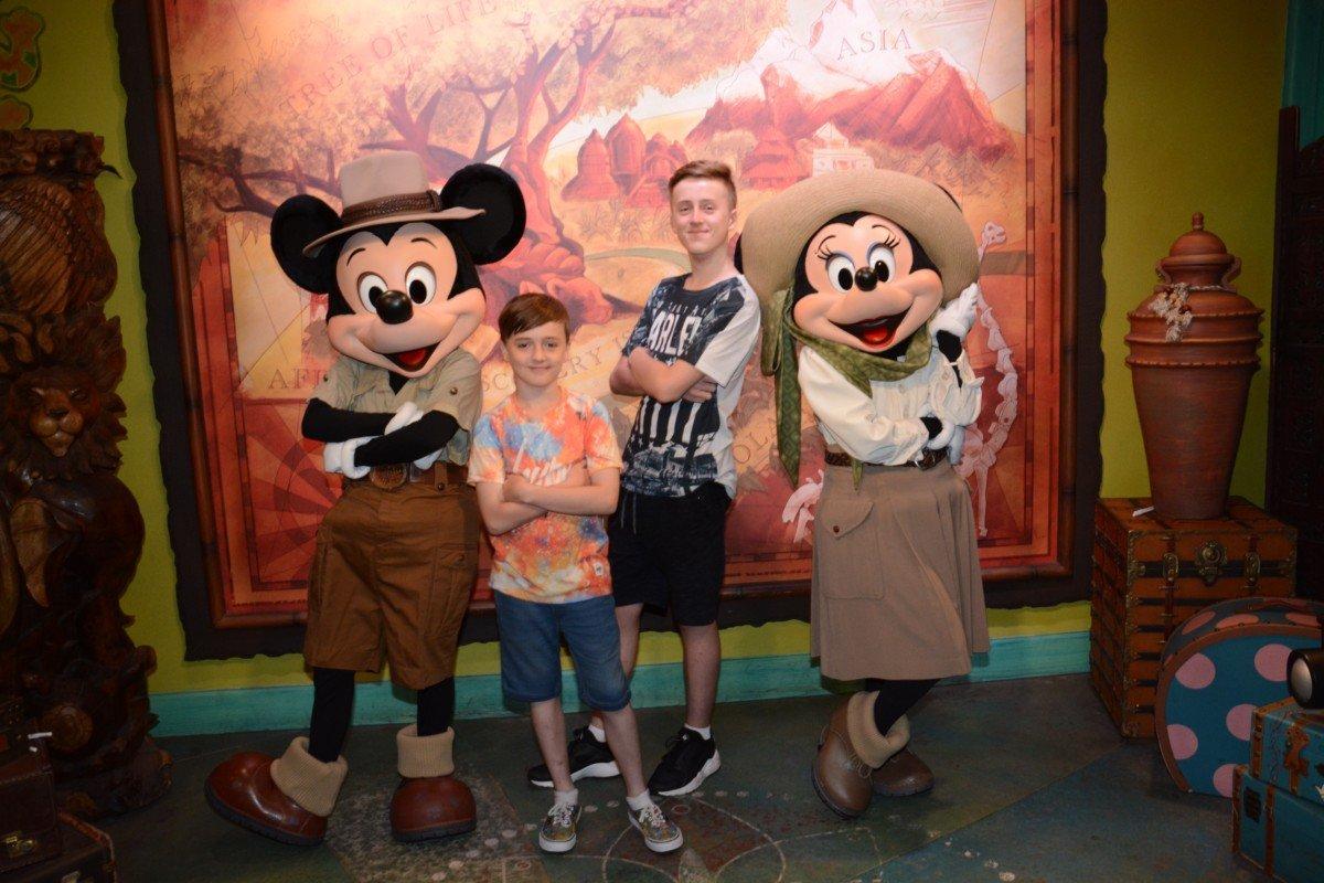 Disney Selfie with Mickey and Minnie