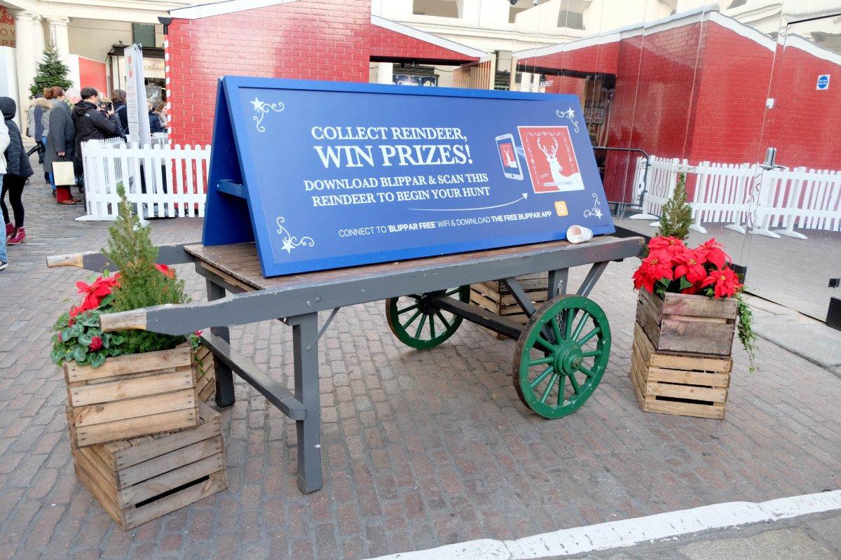 Covent Garden for Kids at Christmas rudolf blipper