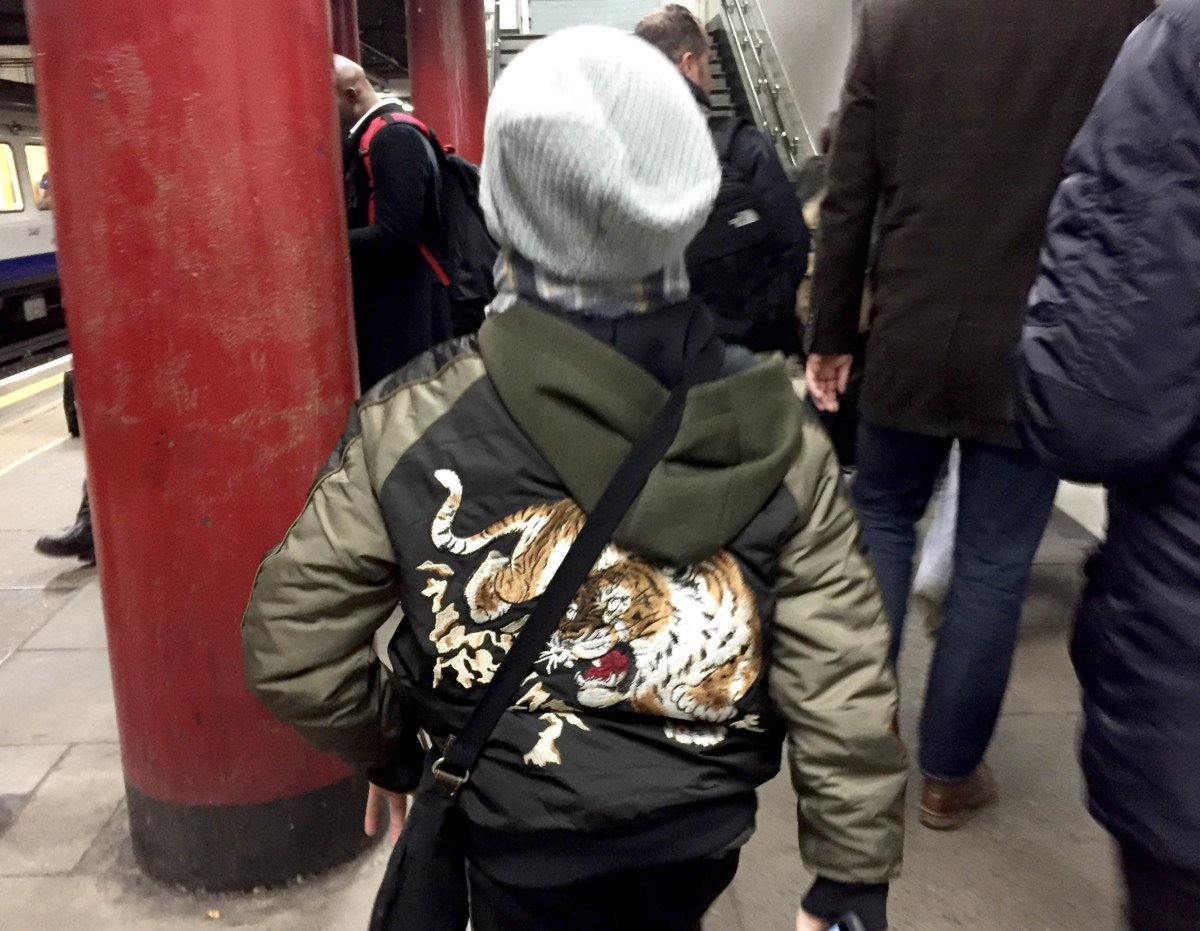 next boys tiger bomber jacket