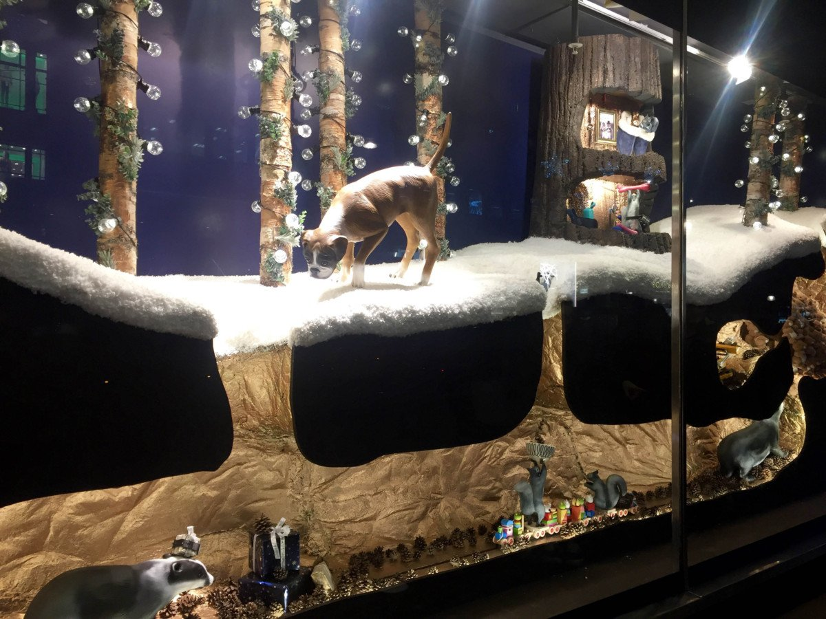 John Lewis, Buster the Boxer Christmas Windows.