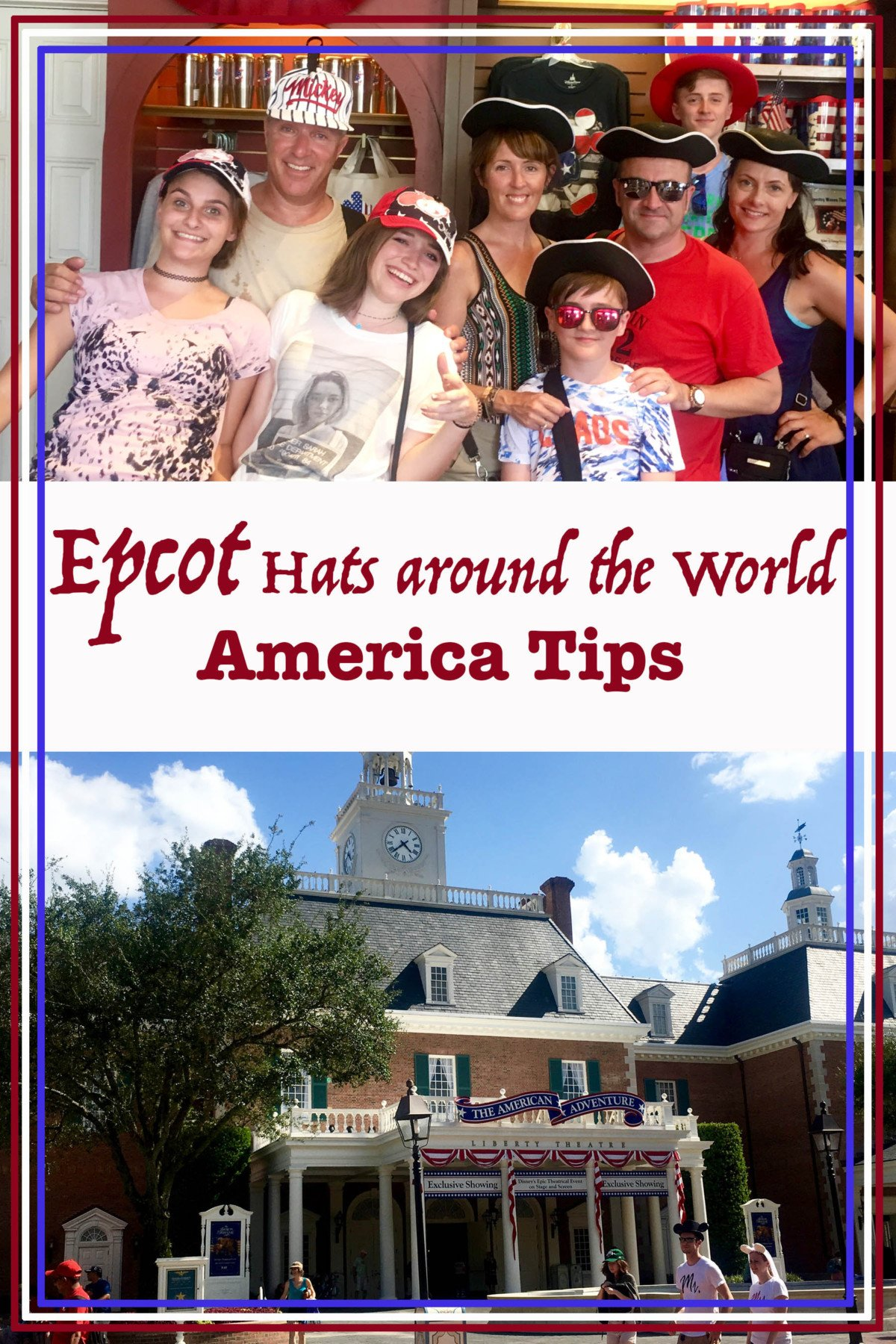 Epcot Hats Around the World, America Tips.
