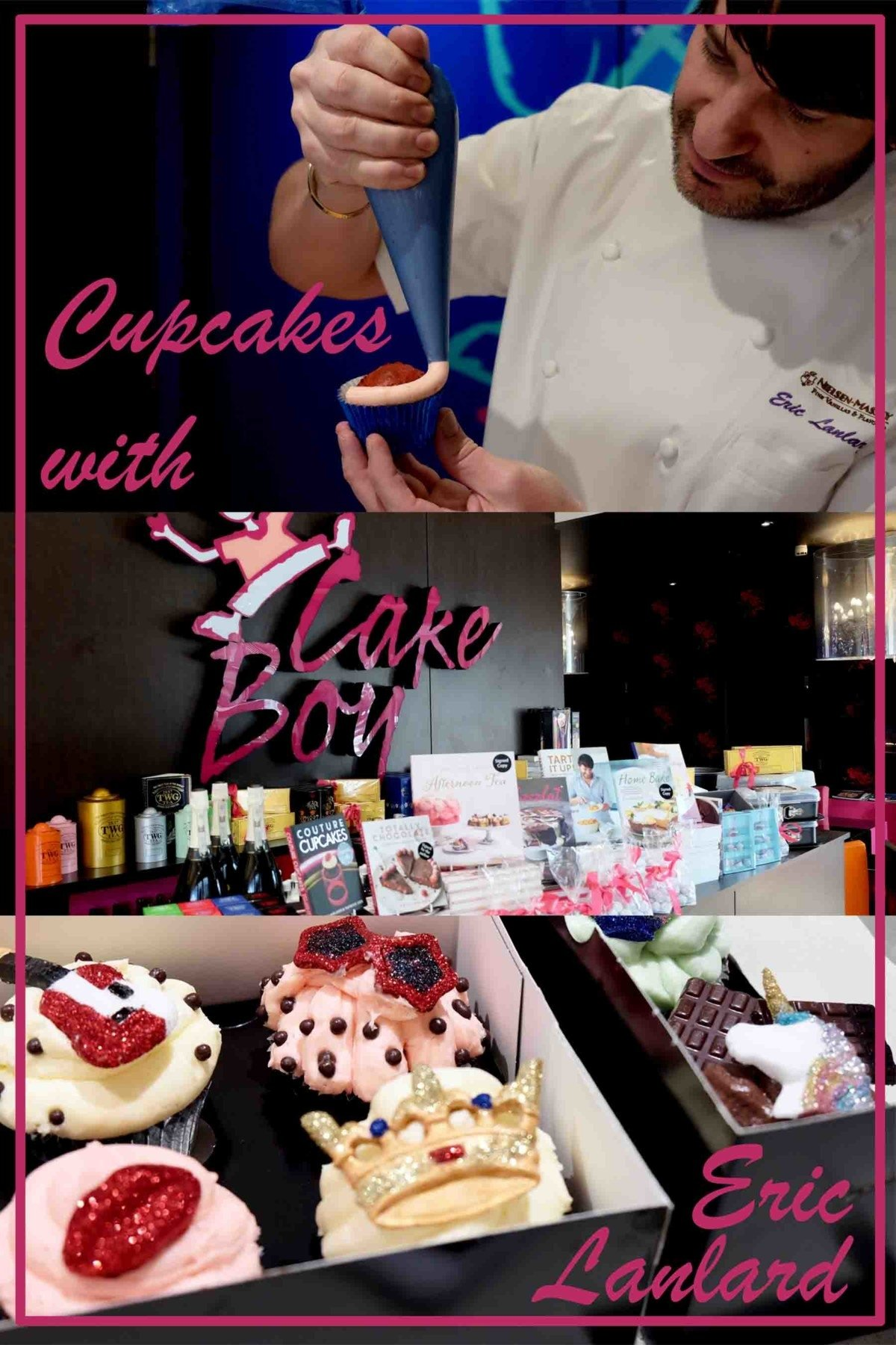 Champagne and Cupcakes with Eric Lanlard and Red Letter Days. Cupcake course and afternoon luxury tea