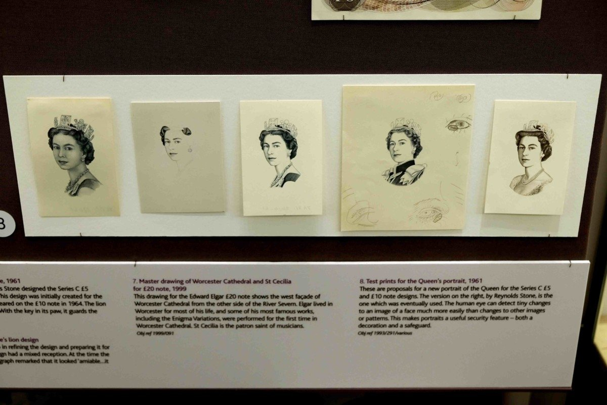 designing the queens portrait for the bank note sketches