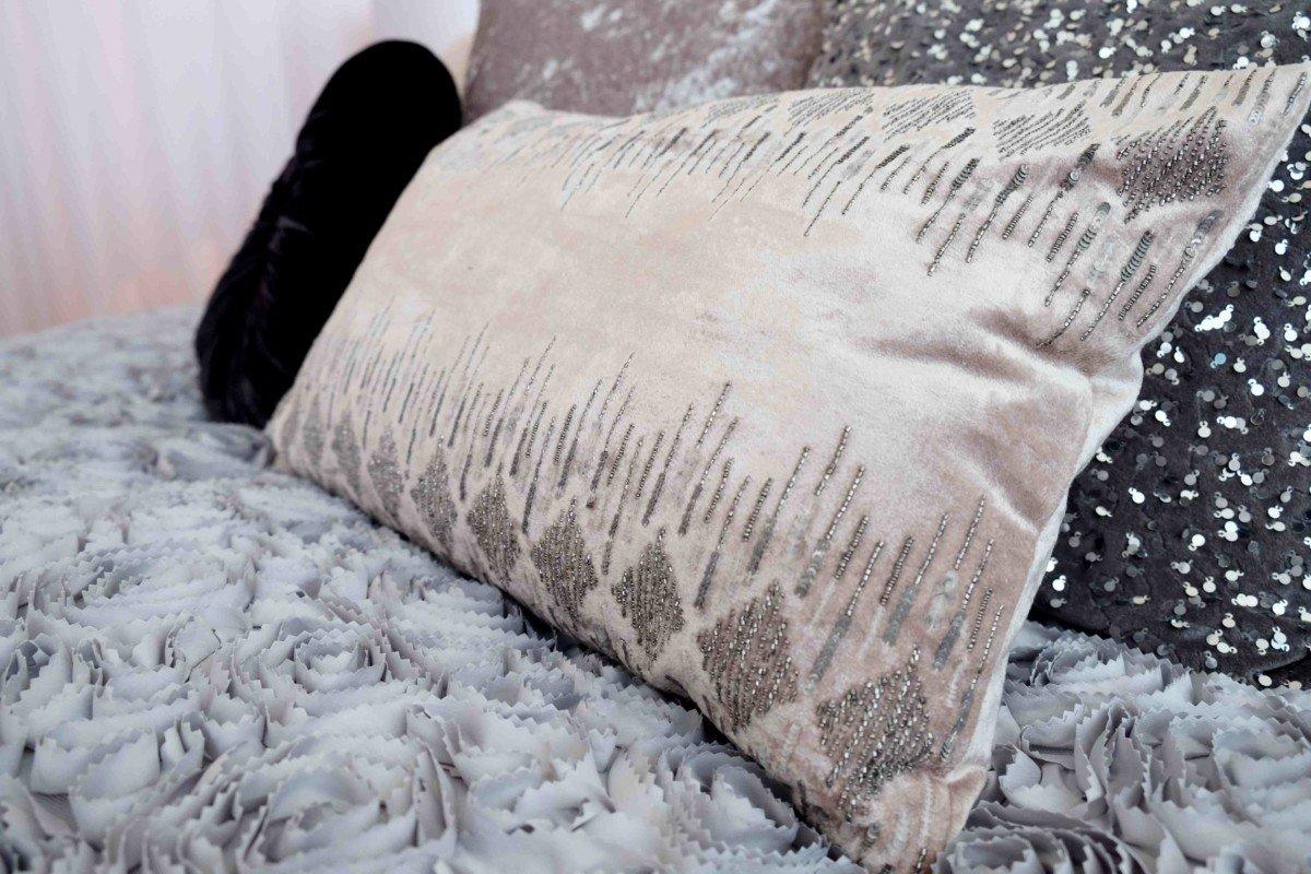 Julian Macdonald the star collection debenhams art deco cushion pink