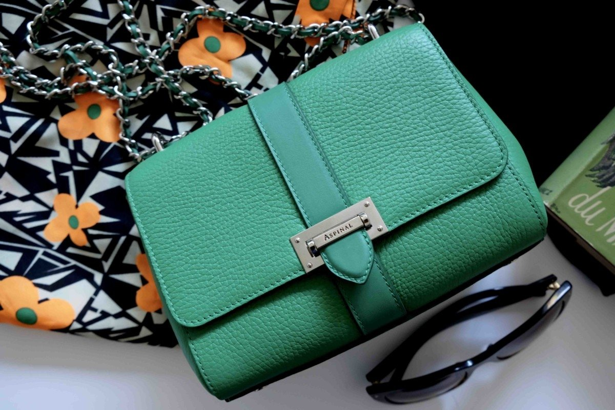 aspinal small lottie bag green