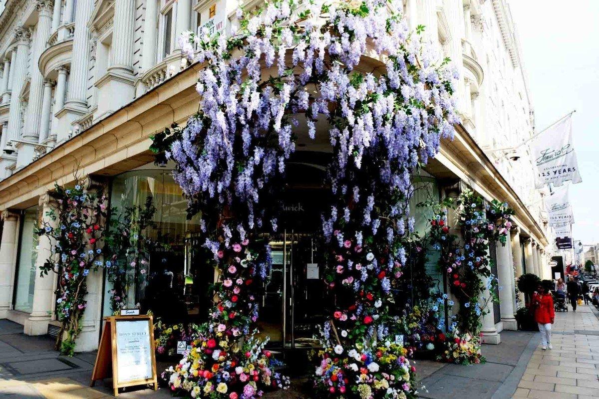 My Sunday photo Fenwicks flower display in Bond street.