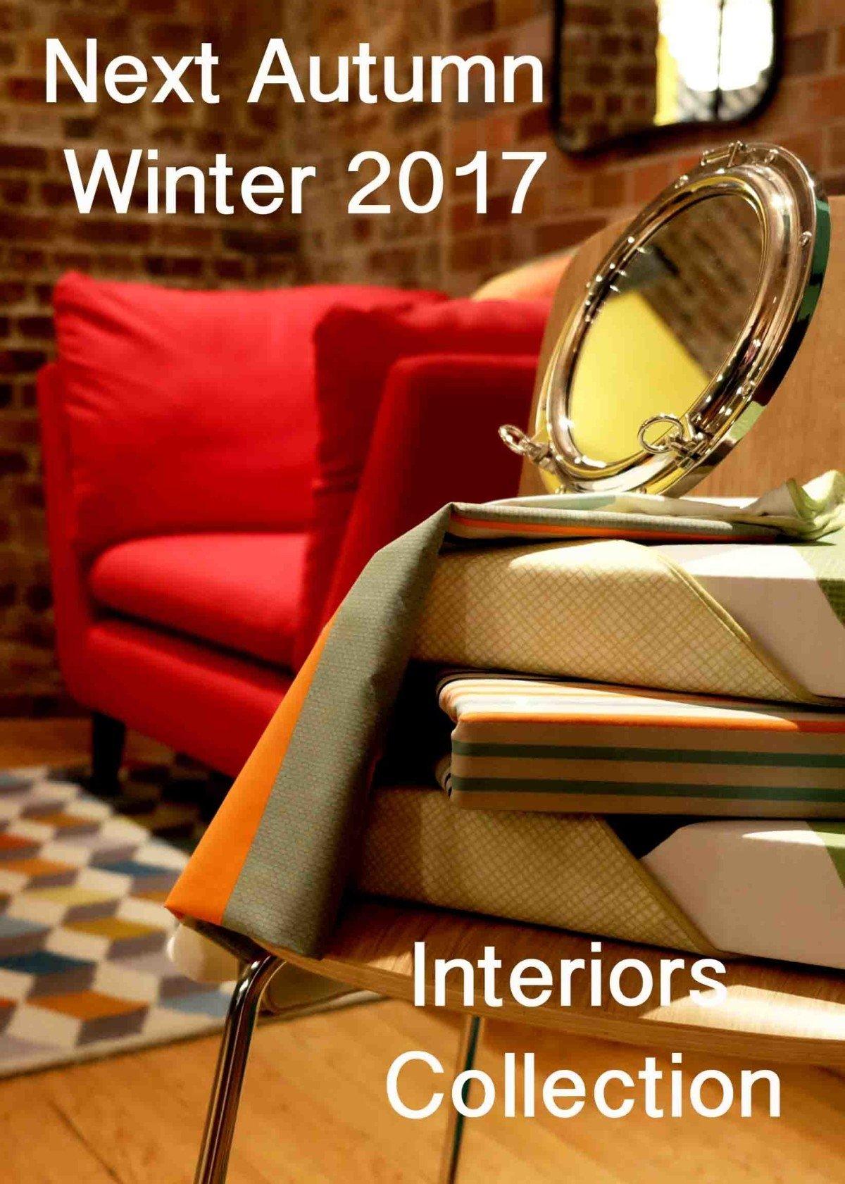 Next Autumn Winter 2017 Interiors Collection