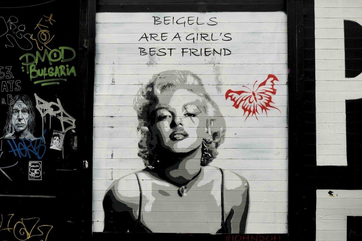 street art marilyn monroe brick lane