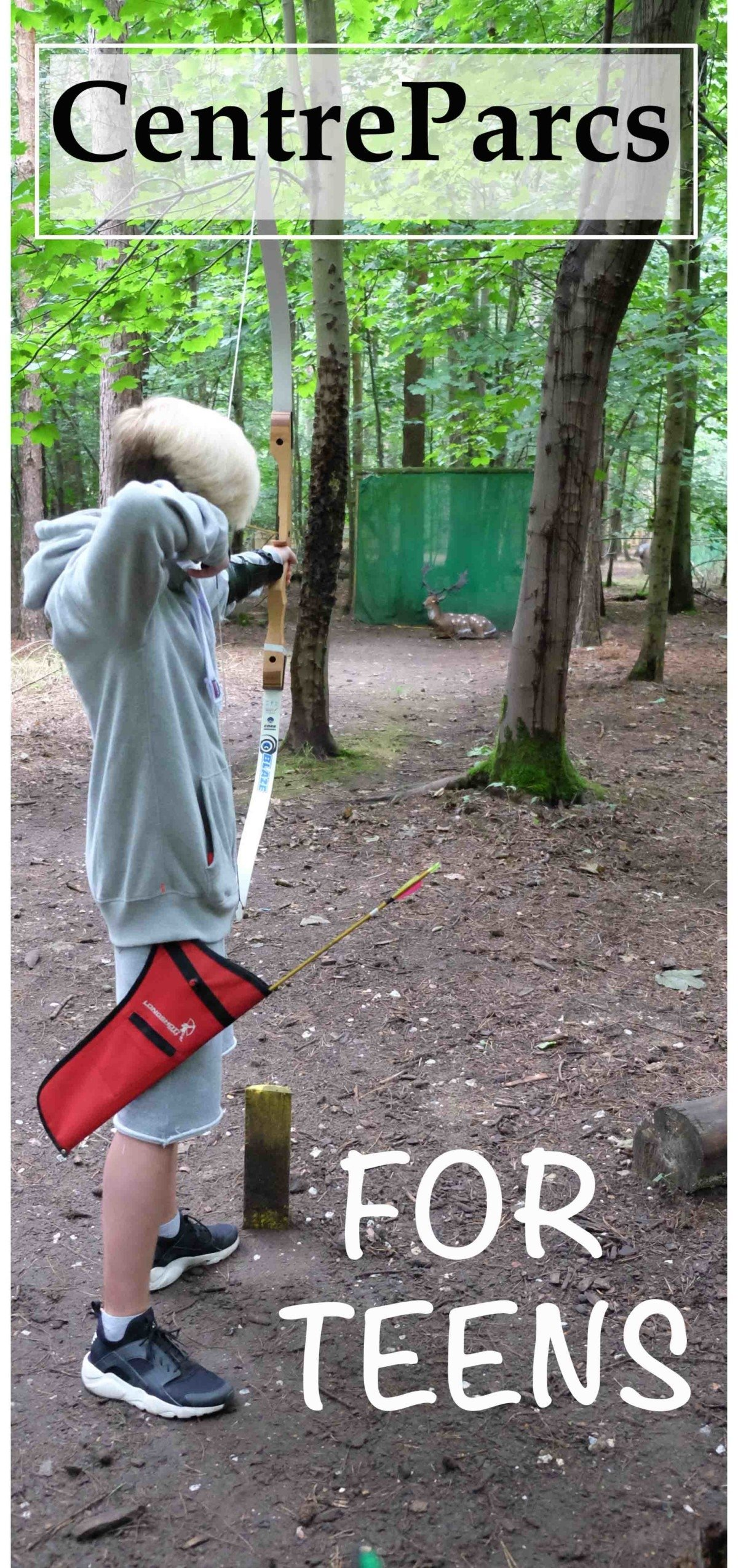Centreparcs for teenagers Field archery, adrenaline rush experiences
