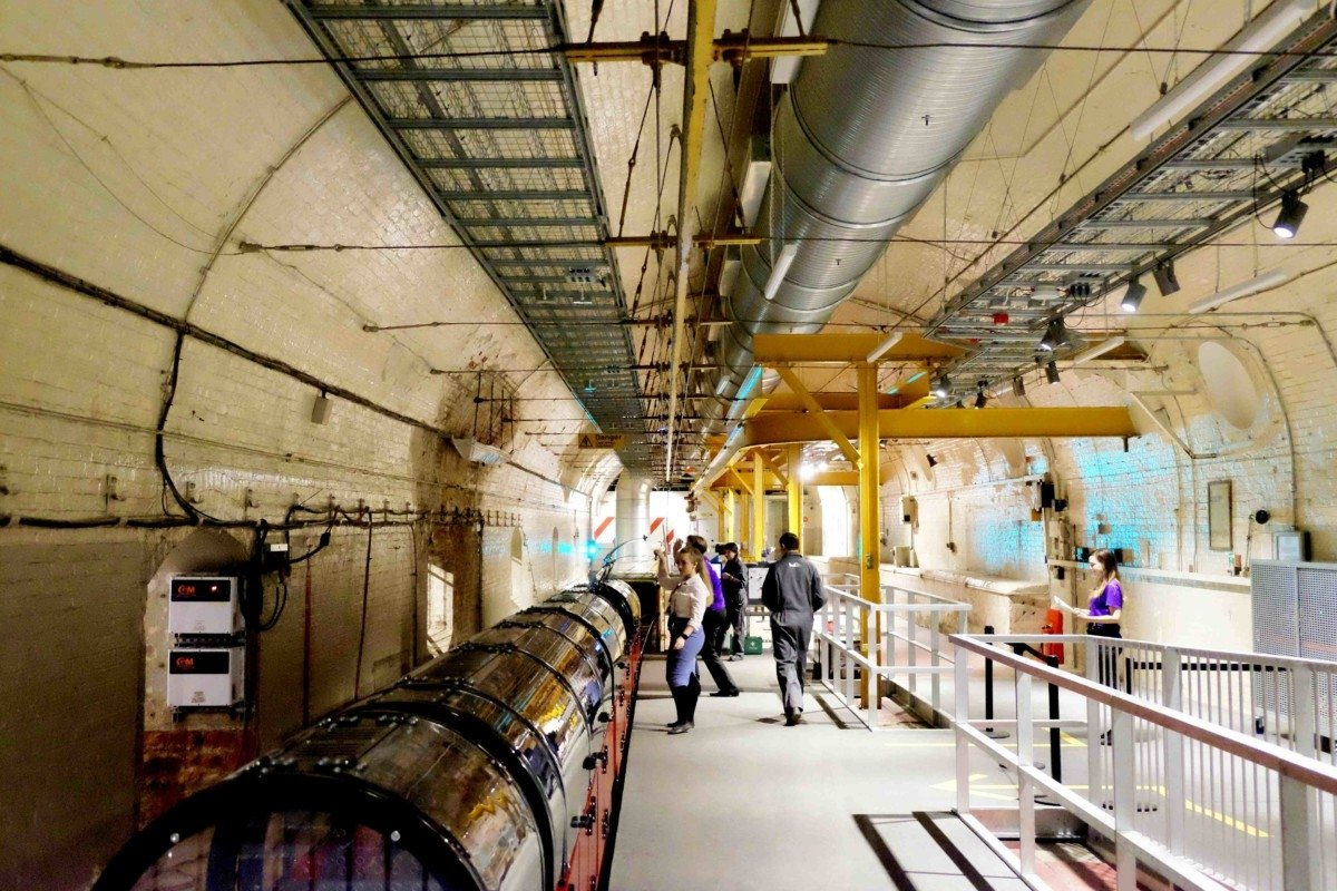 The Mail Rail train at the museum