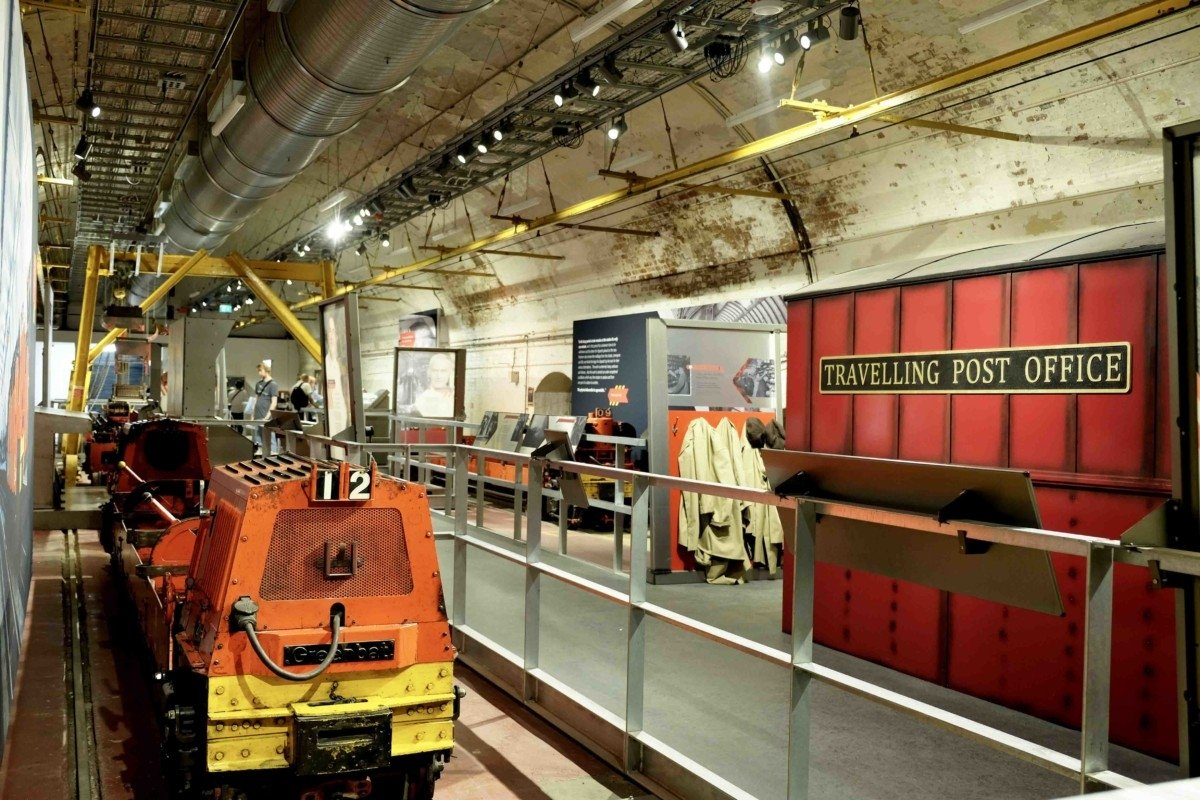 The Mail Rail underground exhibition at the museum
