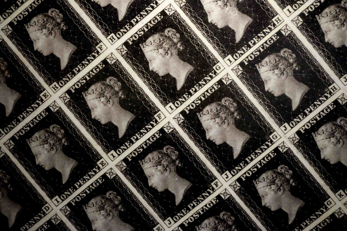 The Mail Rail and Royal Mail Museum Penny Black Stamp
