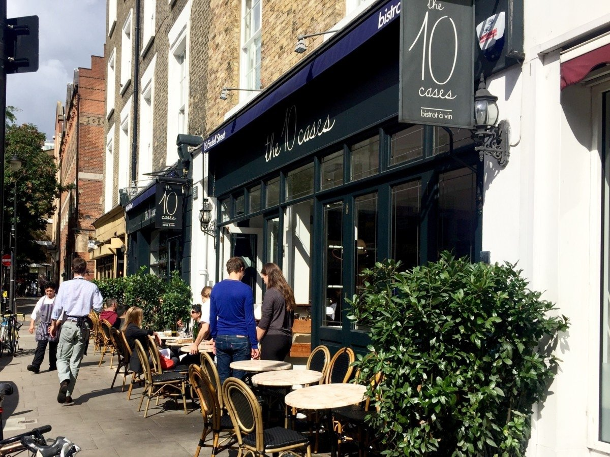 The 10 Cases wine bar and restaurant London