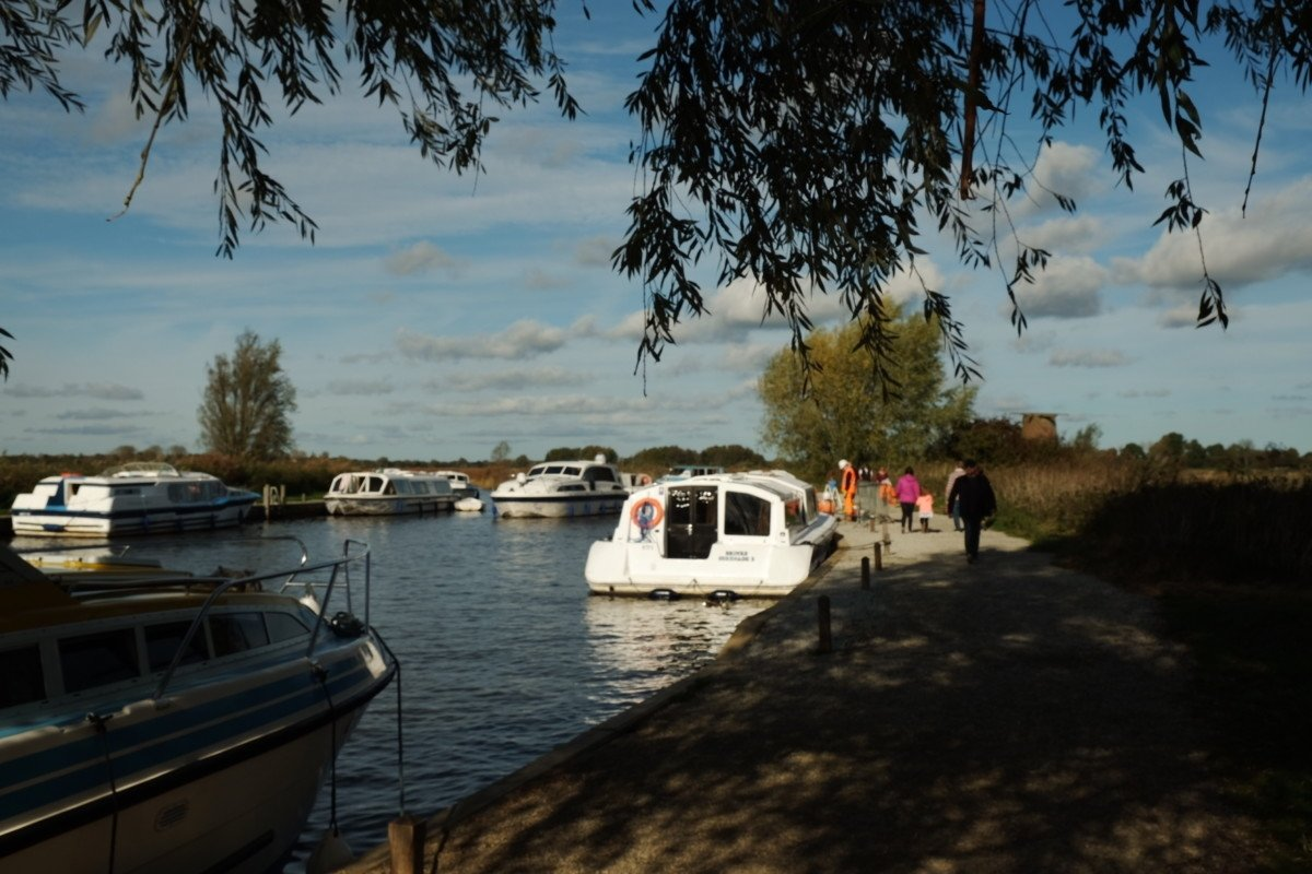 ludham bridge Norfolk Broads boat view