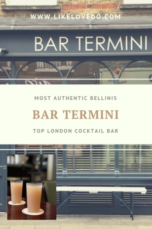 Bar Termini in the top 50 bars in the World serves the most authentic venetian bellinis outside of Venice in London