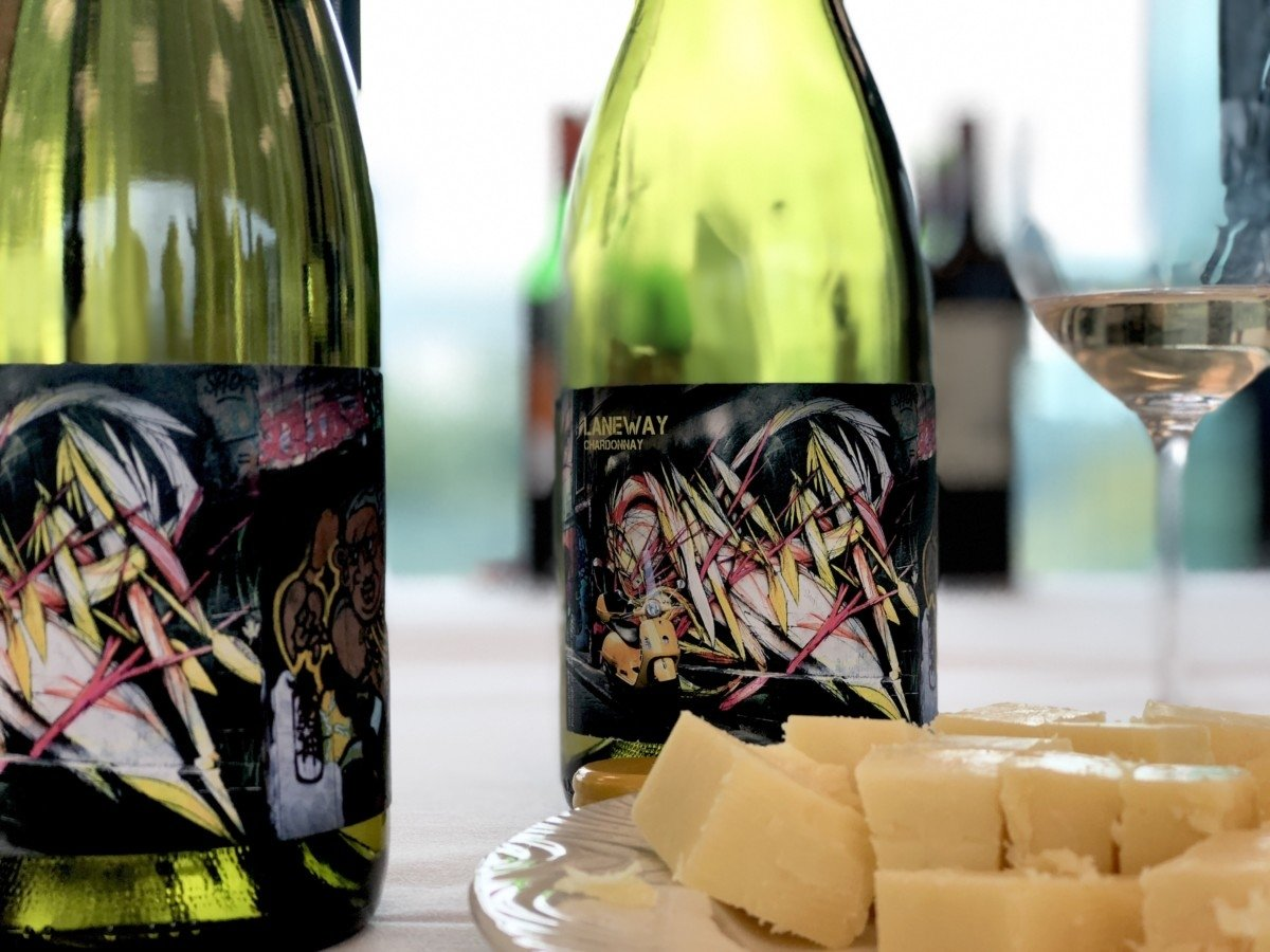 Perfect Wines to pair with Christmas dinner Co-op picture of bottles laneway chardonnay with cheese