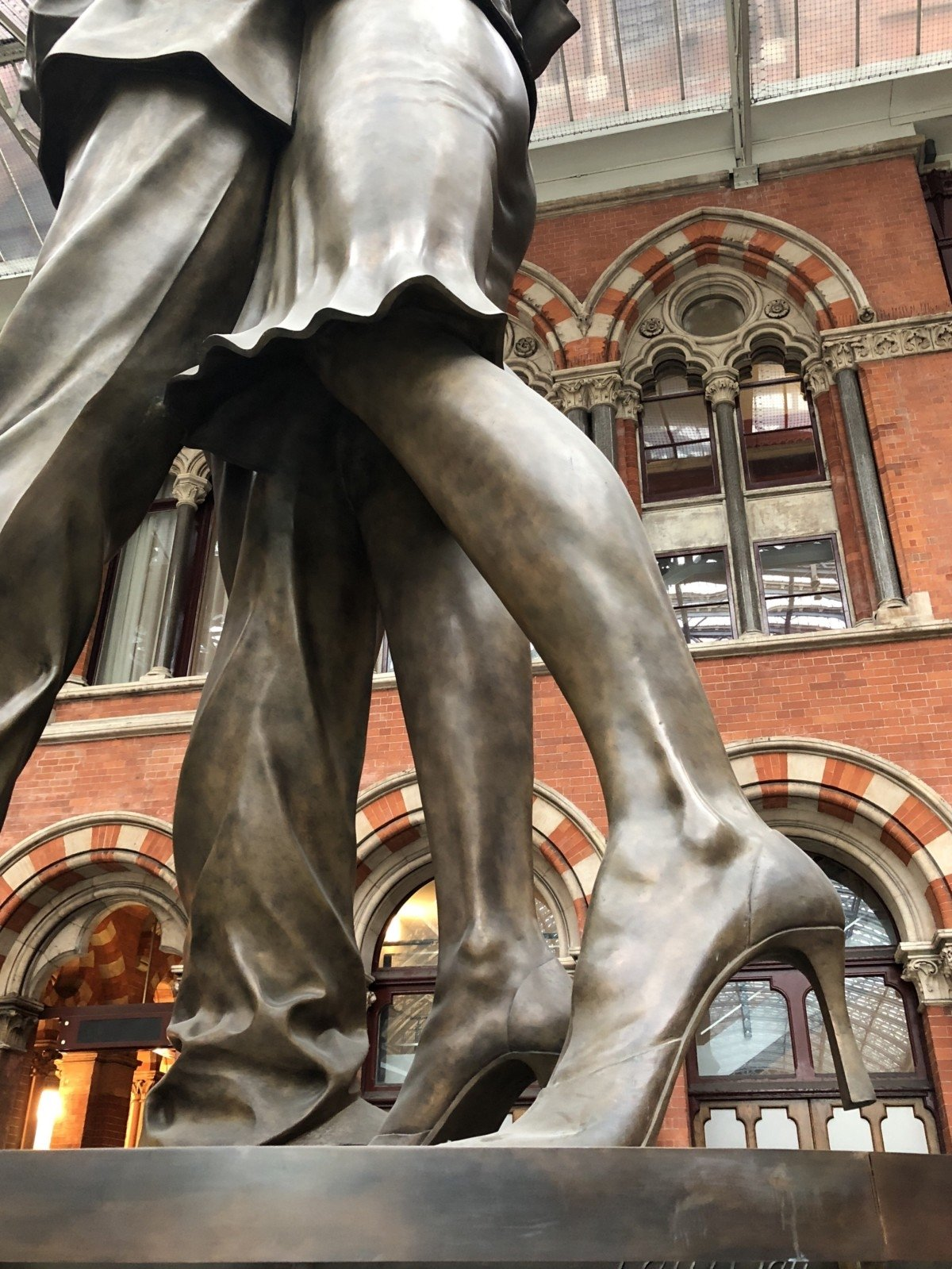 My Sunday photo The Meeting Place statue at Kingscross St Pancras