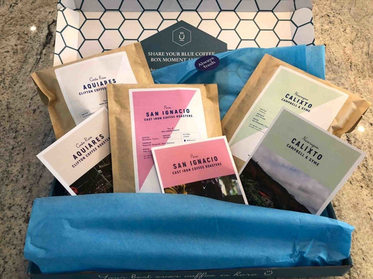 Blue Coffee Box Subscription packets