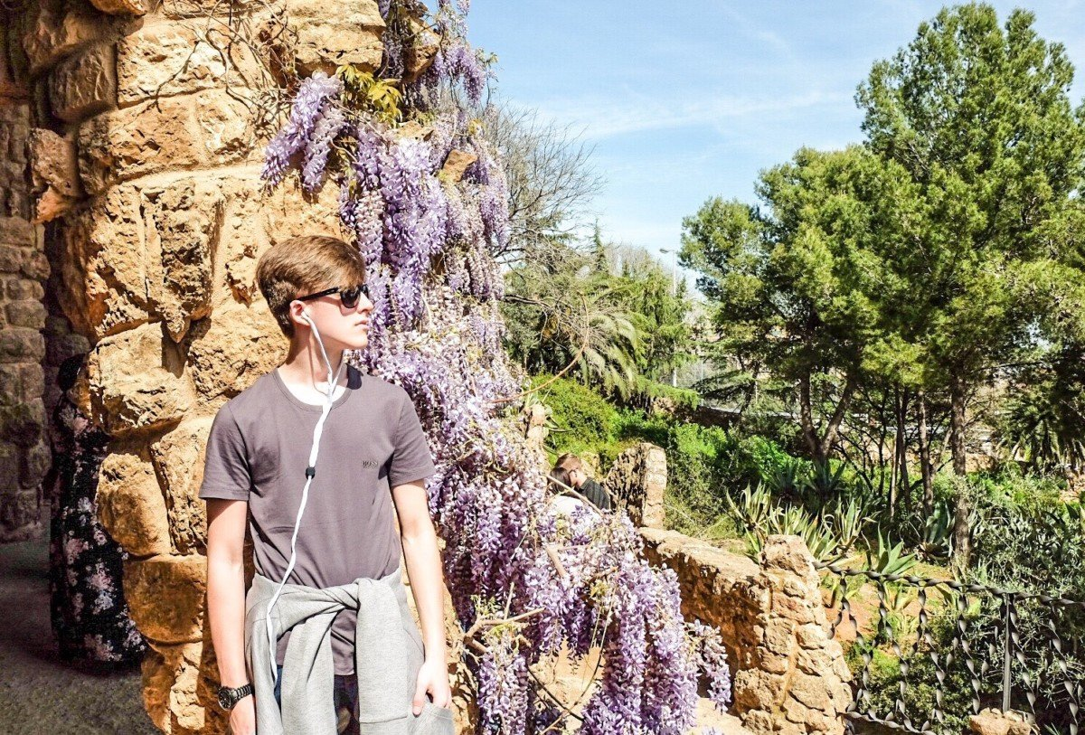 Park Guell Wisteria Barcelona travel plans