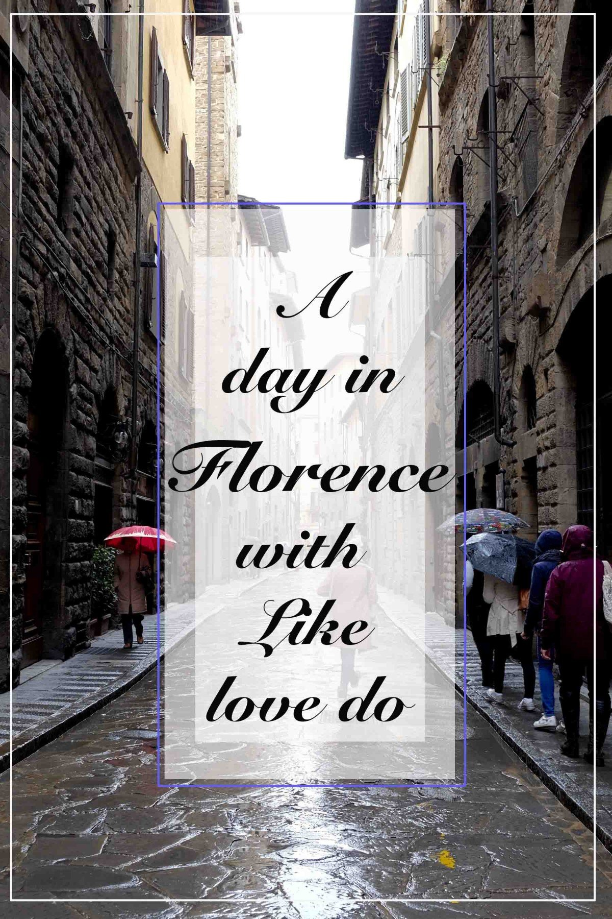 A day in Florence, visiting and touring the city on foot