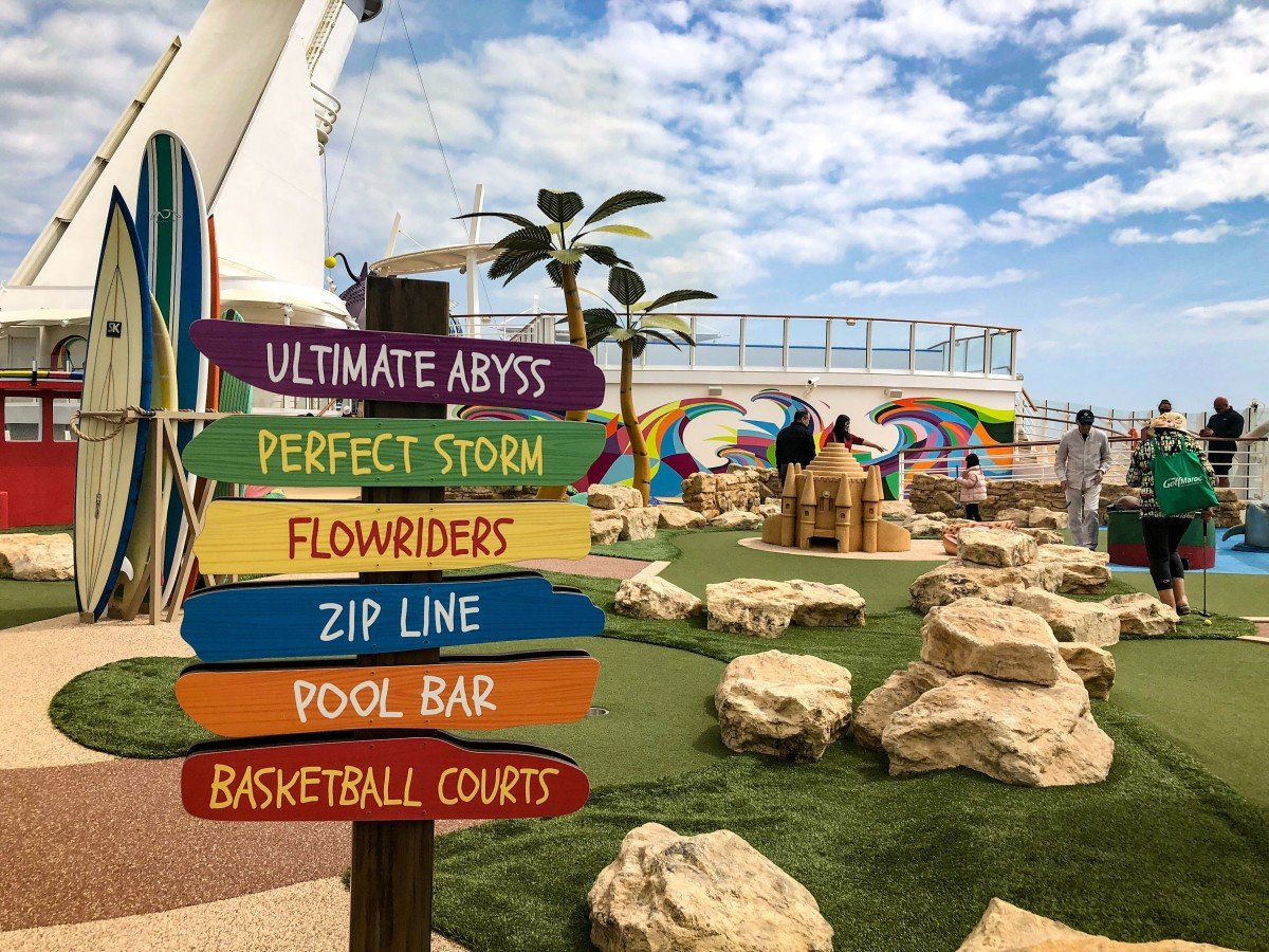 Crazy Golf Sign on Royal Caribbean Symphony of the Seas