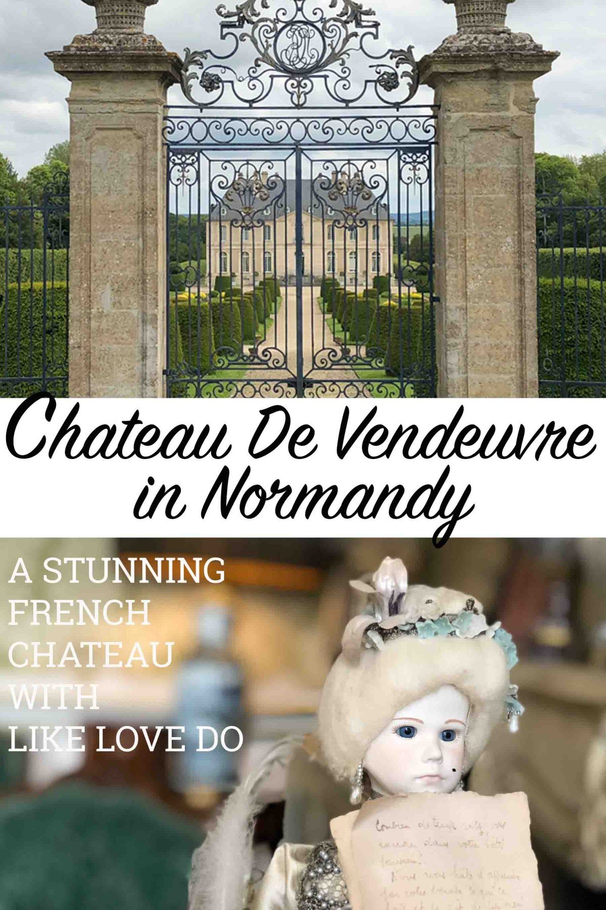CHATEAU DE VENDEUVRE A normandy French Chateau with stunning miniatures and  secret gardens