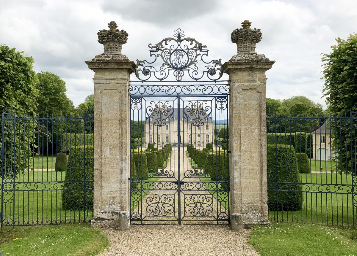 Chateau de Vendeuvre in Normandy the beautiful iron gates of the house