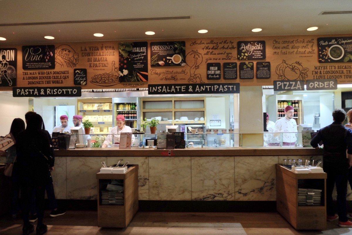 Vapiano Italian Restaurant with its unique split the bill idea!