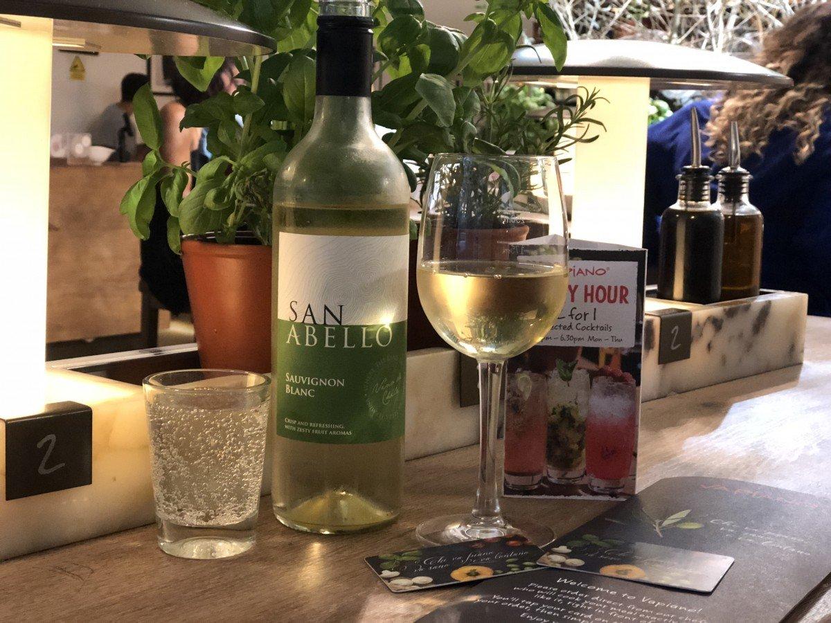 Vapiano Wardour street italian wine