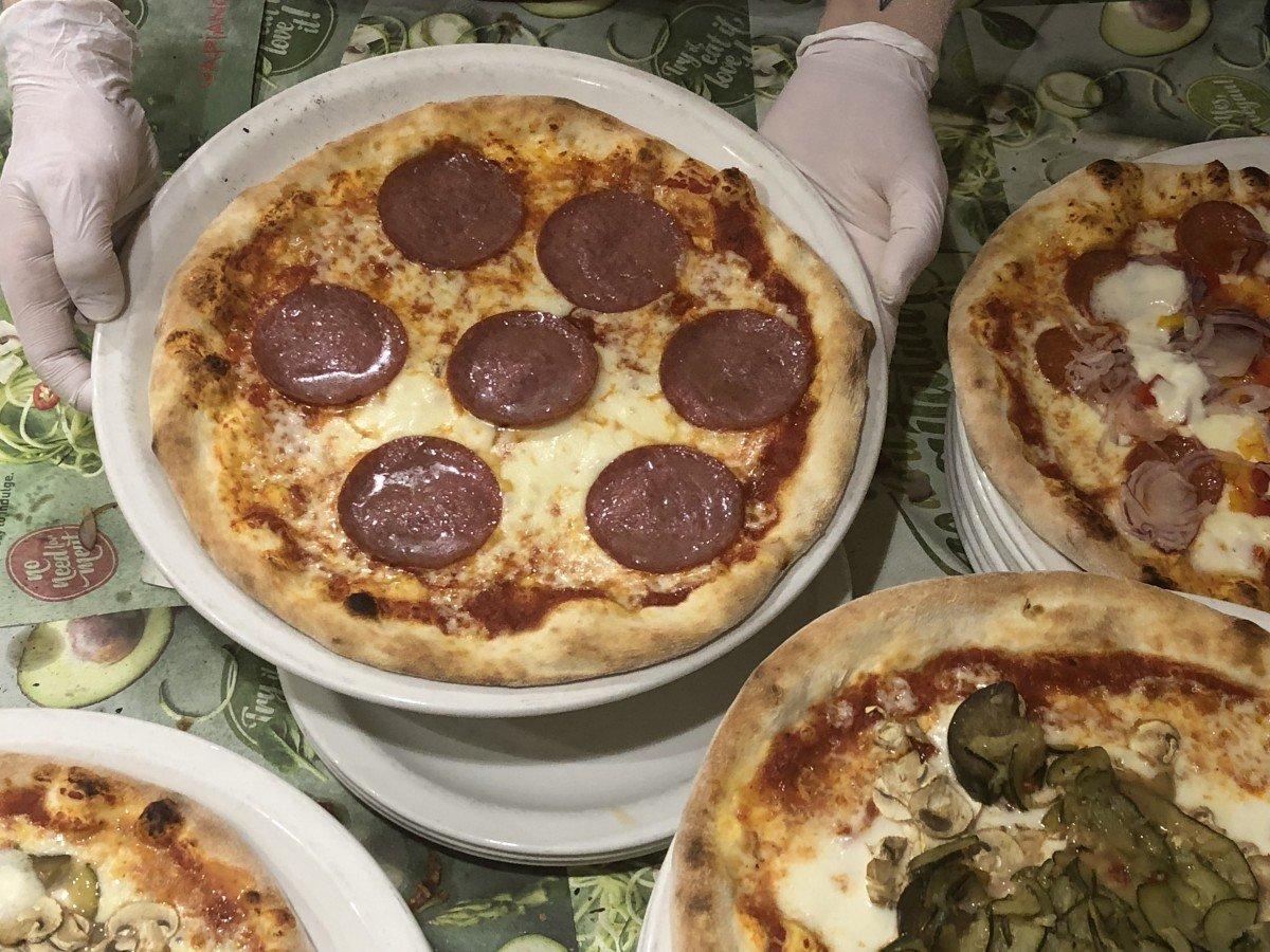 Vapiano Italian Restaurant Wardour street London pizza making
