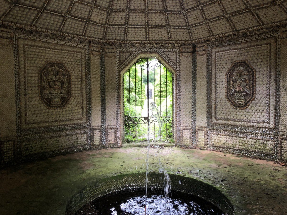 The shell grotto at the Chateau Vendeuvre Normandy